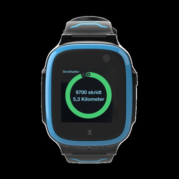 blå X5 ur med skridttæller