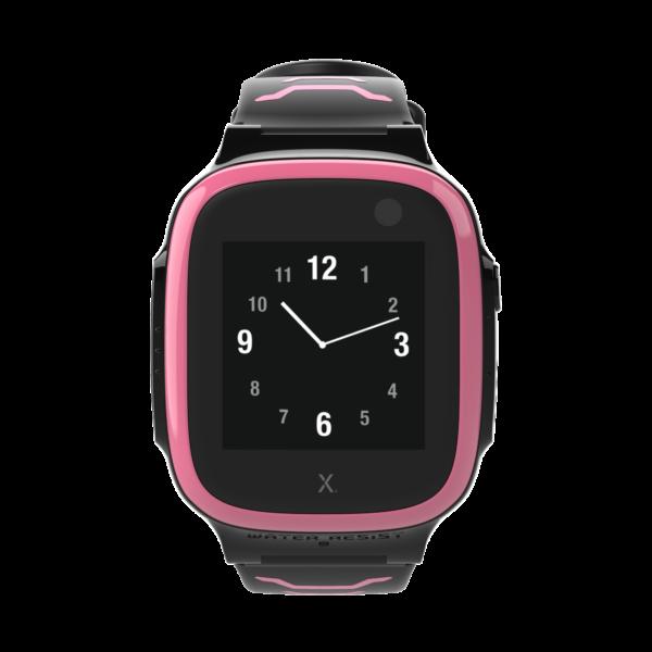 sort og lyserødt xplora smartwatch med ur
