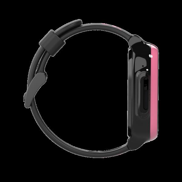 sort og lyserødt smartwatch højre