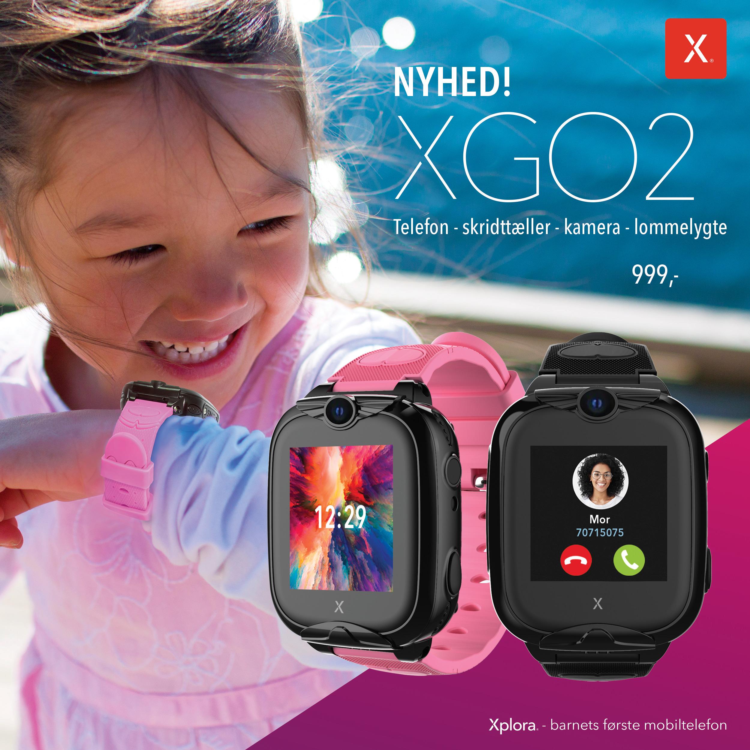 NYHED! Se vores nye Xplora XGO2 smartwatch til børn!
