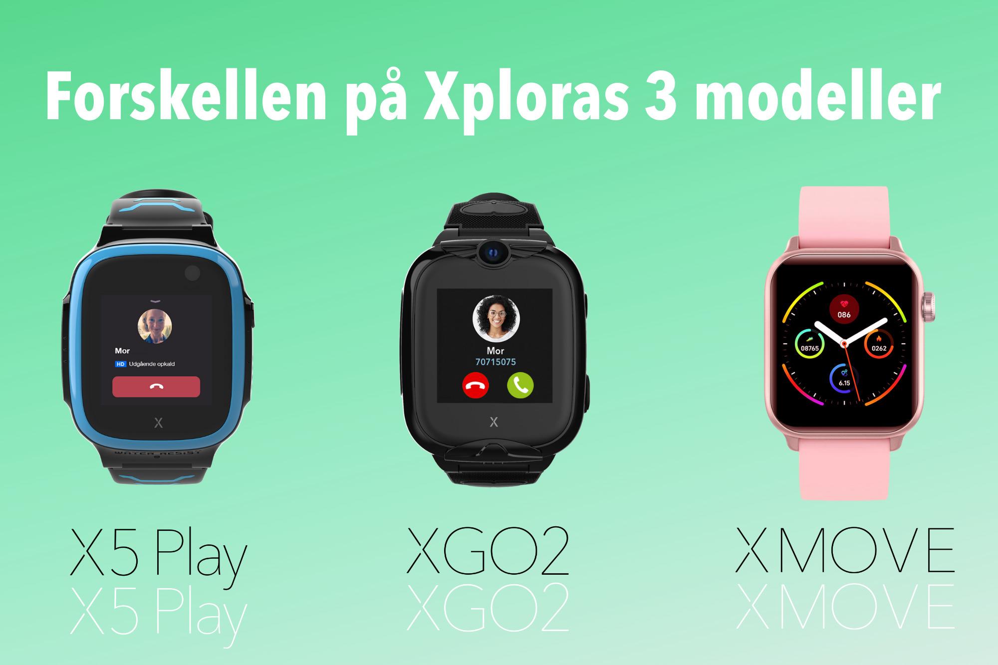 forskellen på xploras 3 modeller